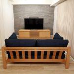 ブラックチェリーのソファ「RB」とオーダーテレビボード